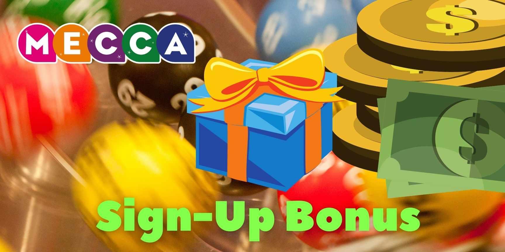 mecca sign up bonus
